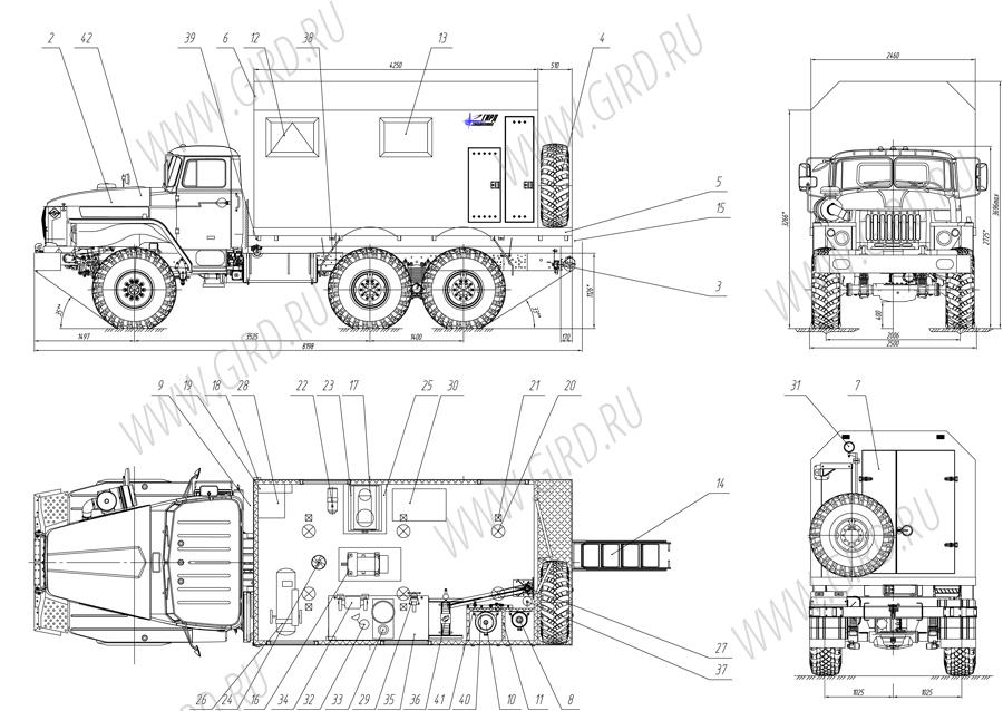базе шасси Урал 4320–5557