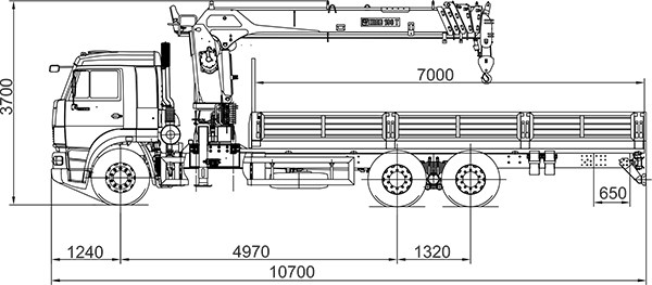 Камаз  65117 с краном манипулятором Инман - ООО ВИД