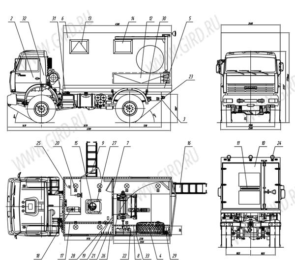 Схематический рисунок АИС